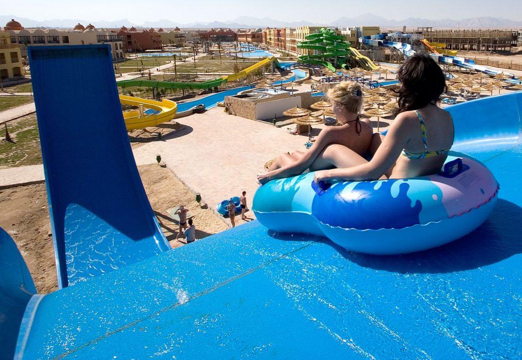 Glijbaan van All Inclusive Titanic Palace en Aquapark  in Hurghada, Egypte