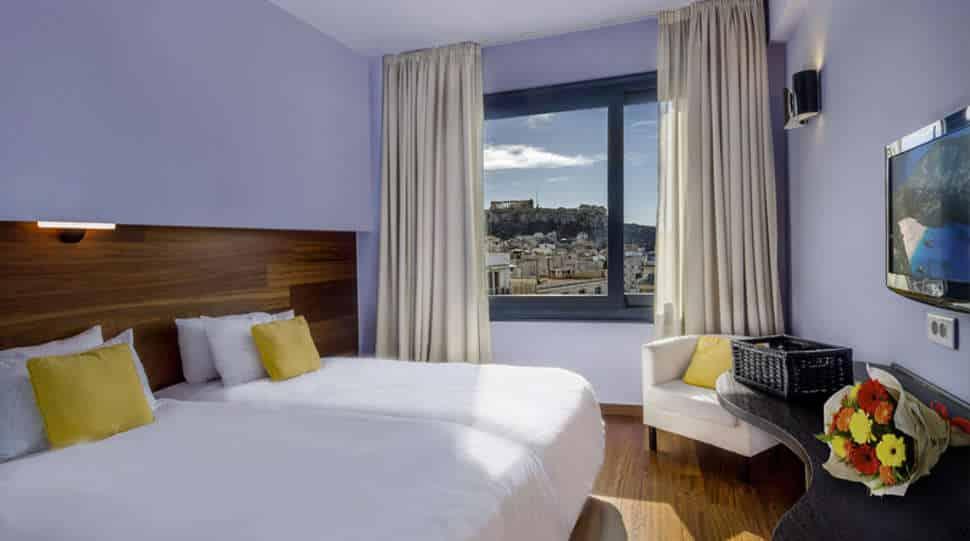 Hotelkamer in Athens Center Square Hotel in Athene, Griekenland