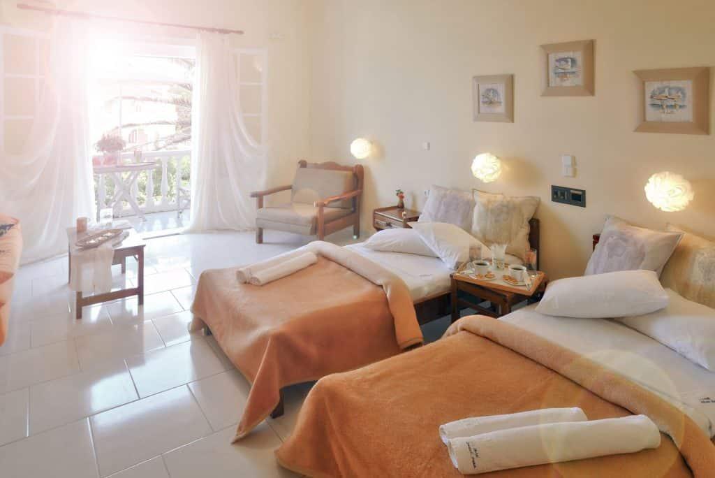 Hotelkamer van hotel Belussi Beach in Tragaki, Zakynthos