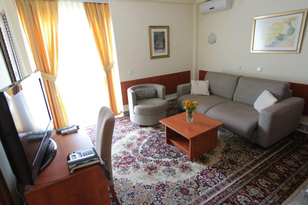 Hotelkamer van Hotel Sileks in Ohrid, Macedonië