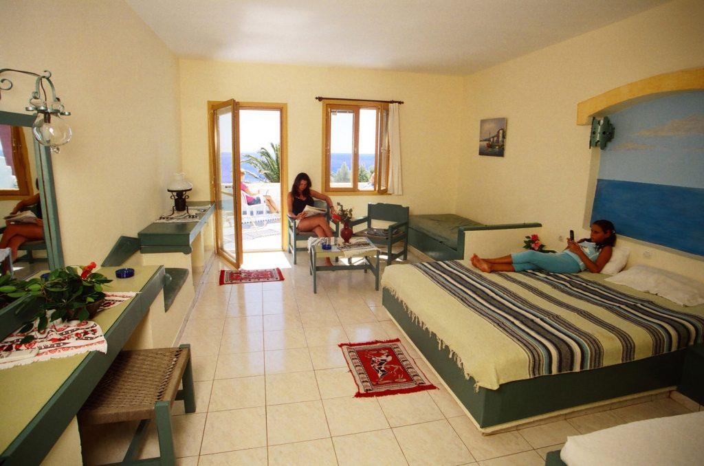 Hotelkamer van Kalypso Cretan Resort en Spa in Plakias, Kreta