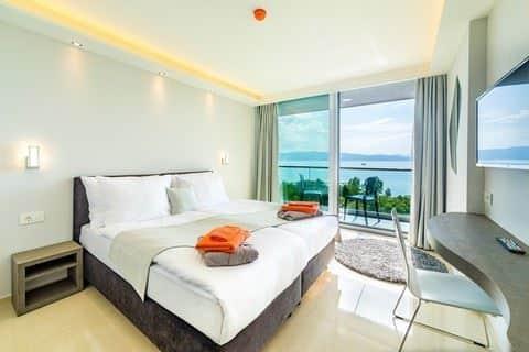 Hotelkamer van Laki Hotel & Spa in Ohrid, Macedonië