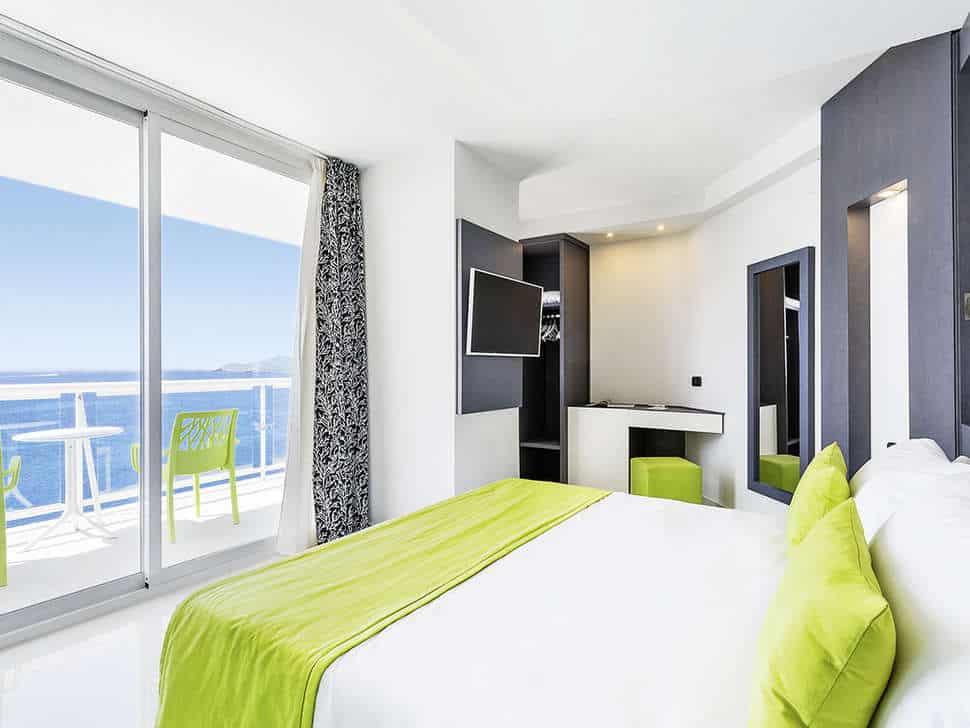 Hotelkamer van Sirenis tres Carabelas in Playa d'en Bossa, Ibiza