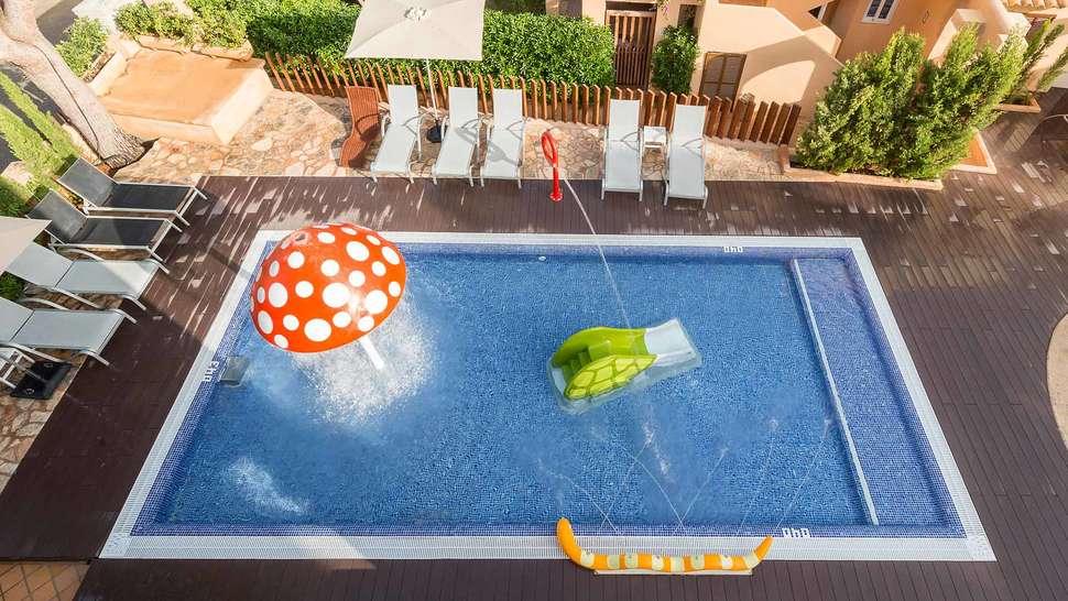 Kinderbad van Playa Ferrera in Cala d'Or, Mallorca