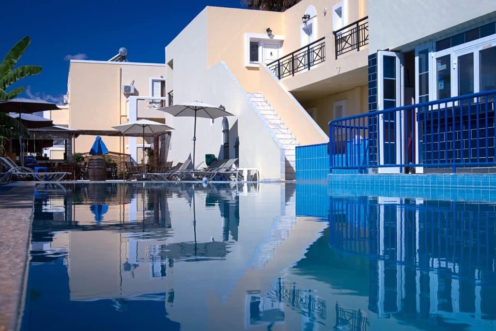 Zwembad van Manine Appartementen in Kos-Stad, Kos