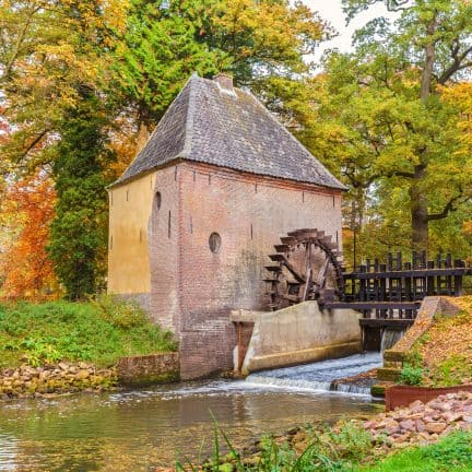 Oude watermolen in Gelderland