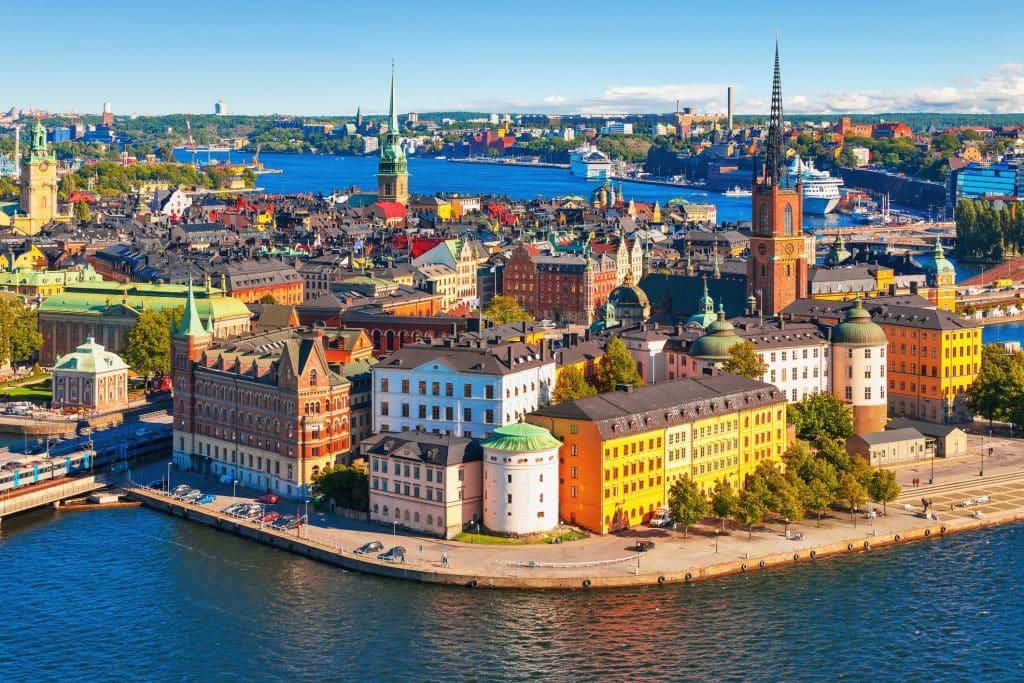 Uitzicht over Stockholm in Zweden