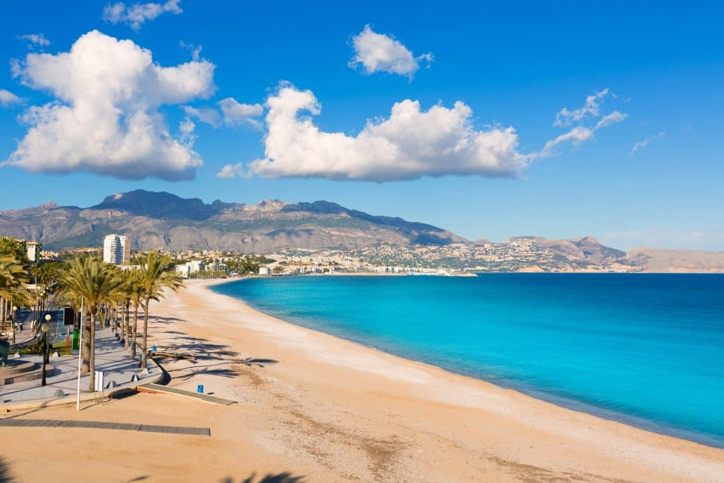Playa del Albir in Altea, Spanje
