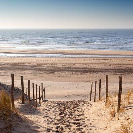 Strand van Ter Heijde aan Zee in Zuid-Holland