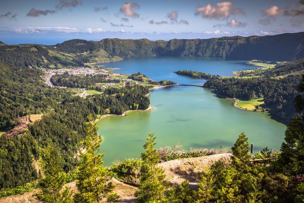 Lagoa Sete Cidades op de Azoren, Portugal