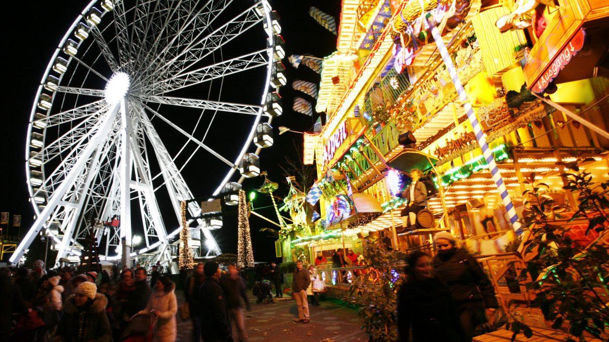 Hydepark's Winter Wonderland in Londen, Engeland