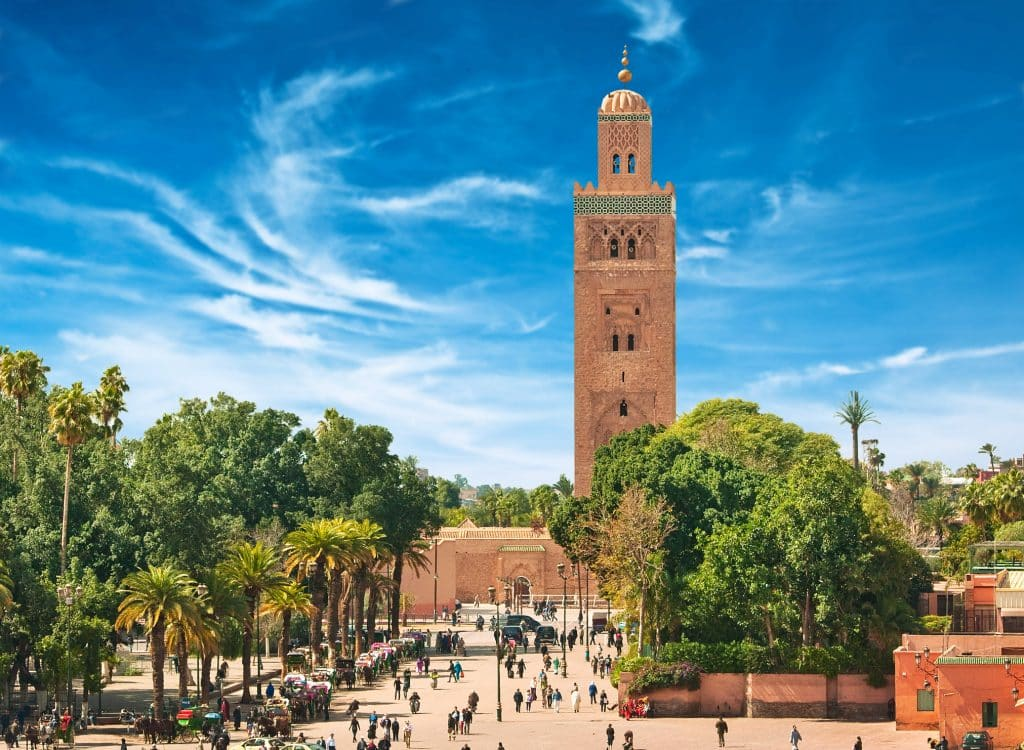 Ligging van Riad Barroko in Marrakech, Marokko