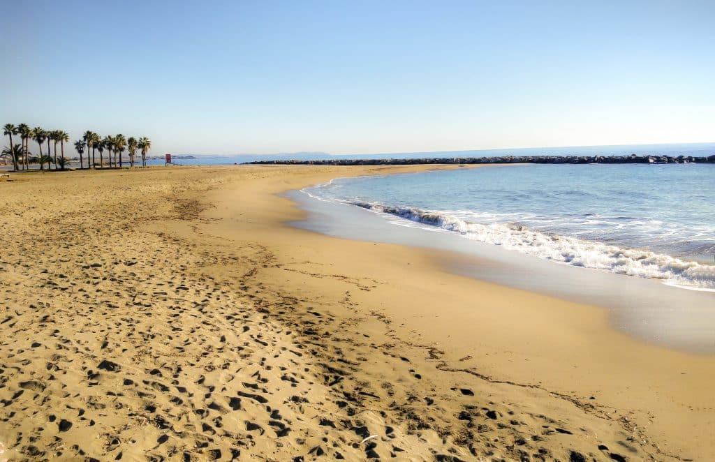 Strand van Cambrils bij Salou in Spanje