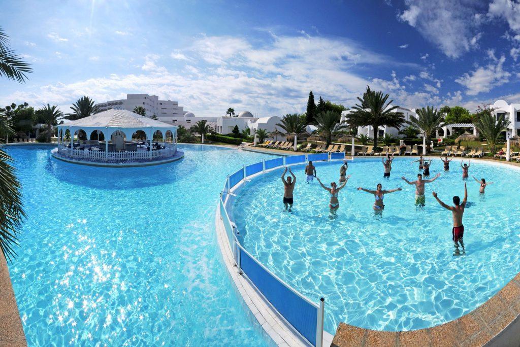 Zwembad van Club President en Tunisian Village in Hammamet, Tunesië