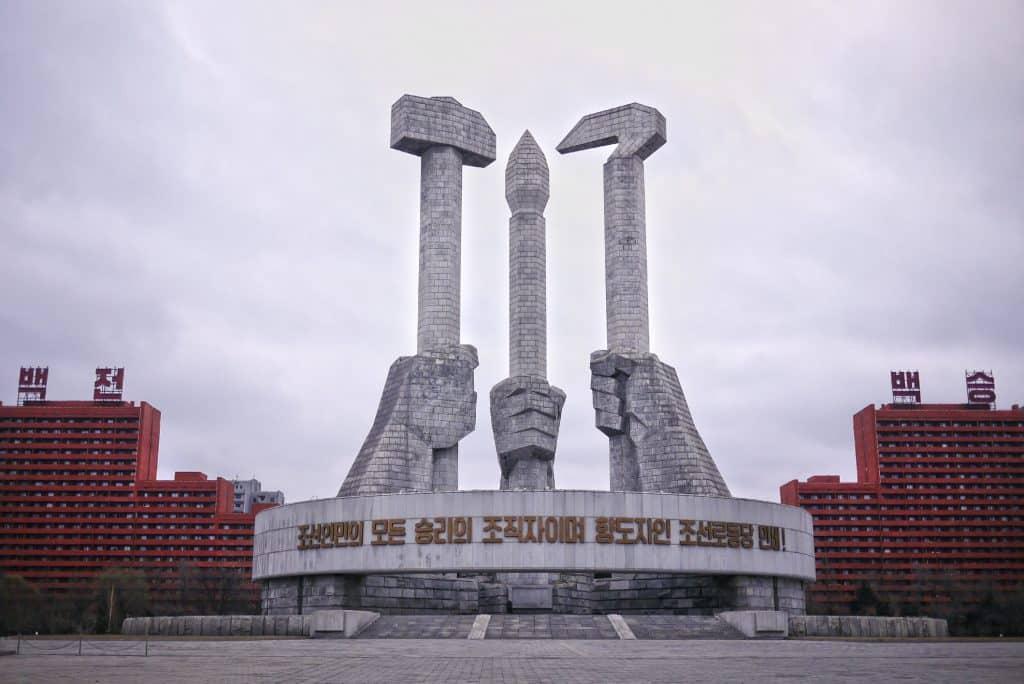 Monument van de Koreaanse Arbeiderspartij in Pyongyang, Noord-Korea