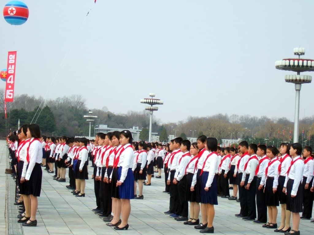 Schoolkinderen in Noord-Korea