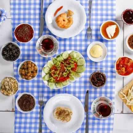 Grieks ontbijt in Griekenland