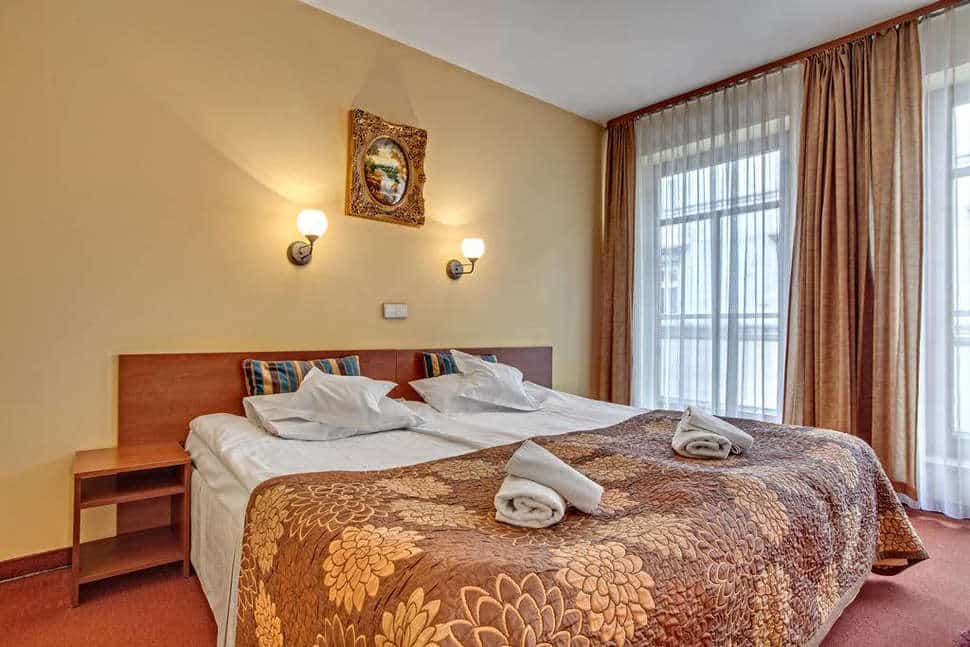 Hotelkamer van Hotel Astoria in Krakau, Polen