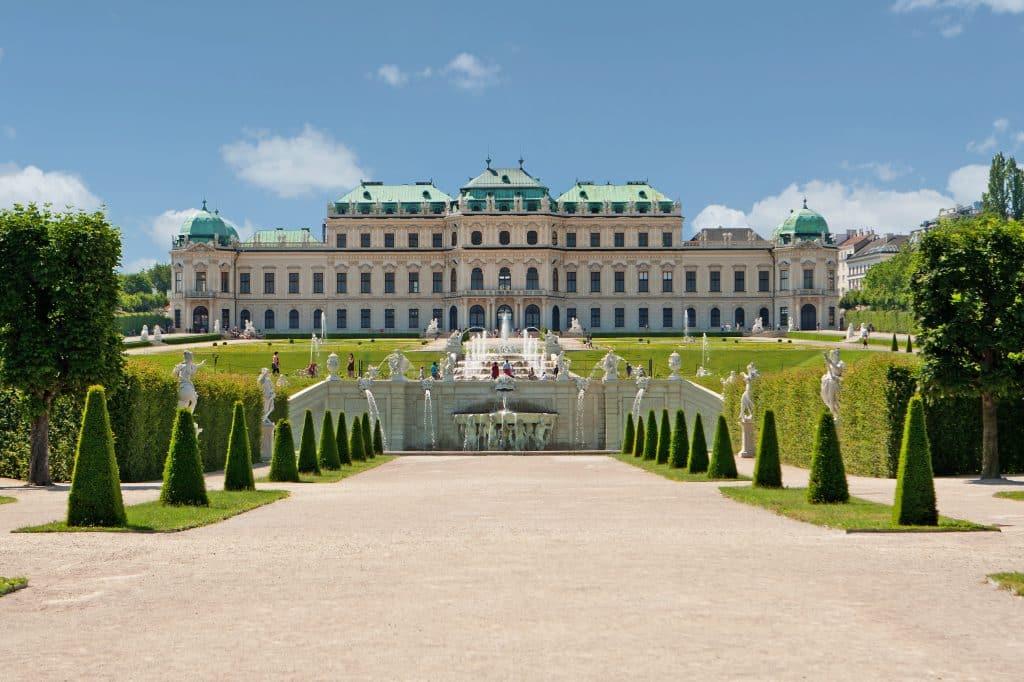 Belevedere Paleis in Wenen, Oostenrijk