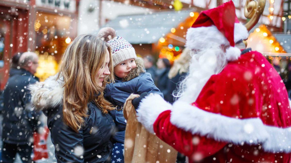 Kerstmarkt in Munster, Duitsland