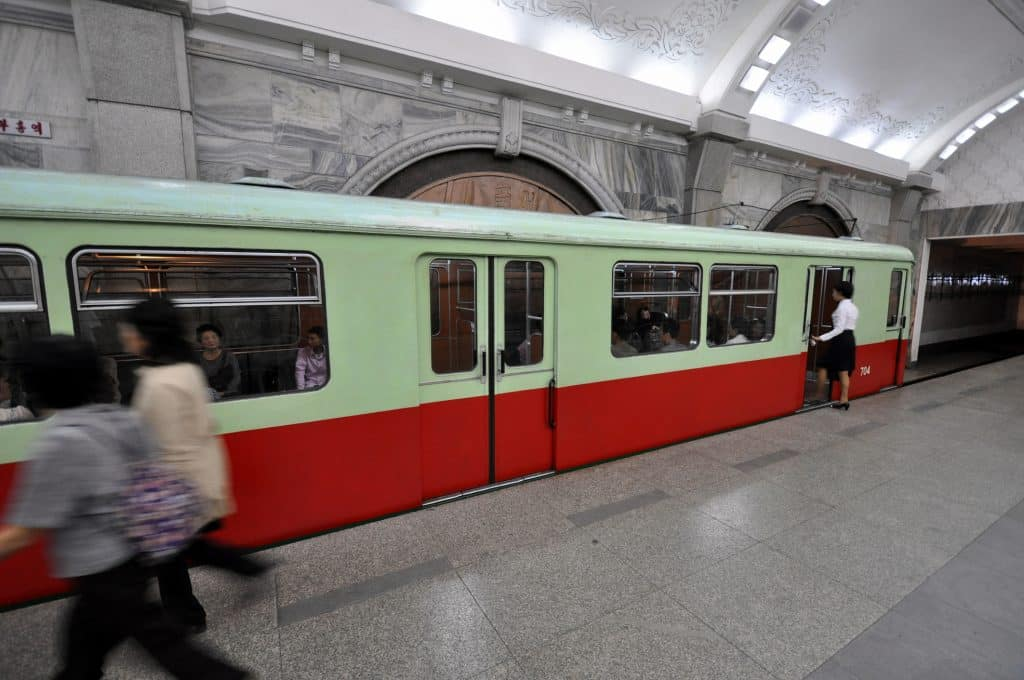 De metro in Pyongyang, Noord-Korea