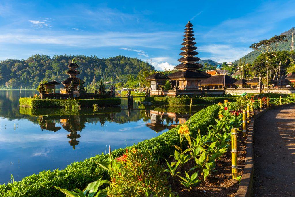 Pura Ulun Danu Bratan in Bali, Indonesie