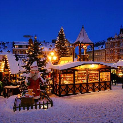 Kerstmarkten Duitsland in Düsseldorf, Berlijn, Keulen, Frankfurt,