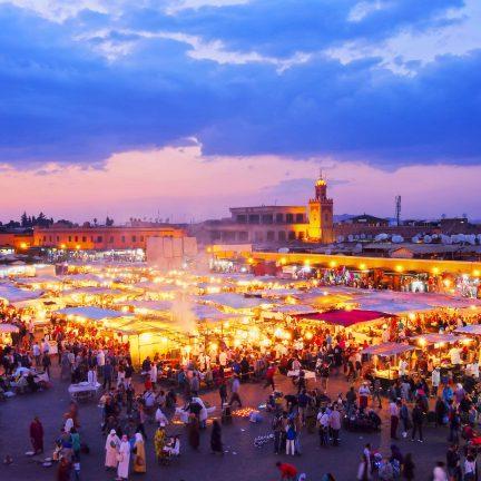 Djemaa el Fna in Marrakech, Marokko