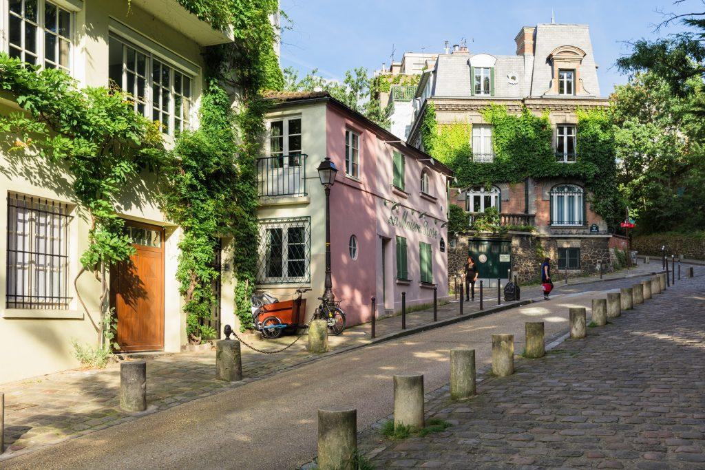 Straatje in Montmartre, Parijs