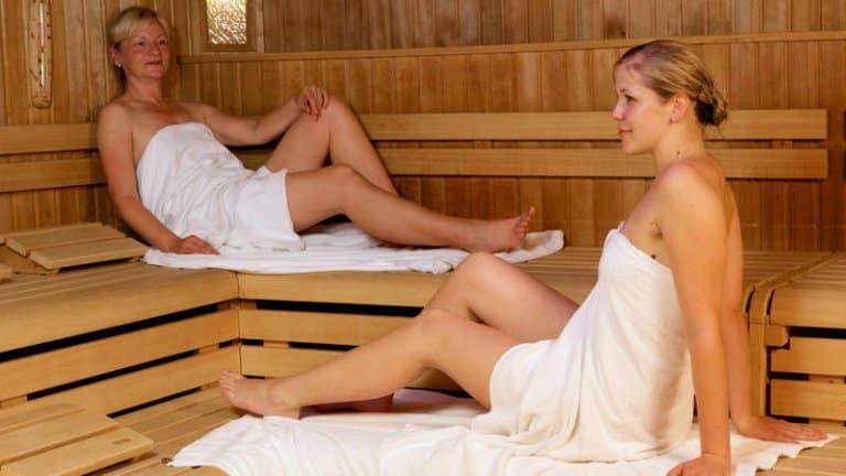 Sauna in Schlosshotel Petry in Treis-Karden, Duitsland