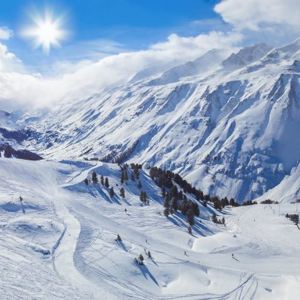 Skigebied Sölden in Oostenrijk