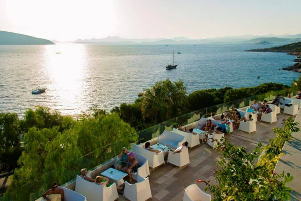 All Inclusive dineren van Bodrum Holiday Resort in Bodrum, Turkije