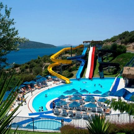 Waterpark van Bodrum Holiday Resort in Bodrum, Turkije