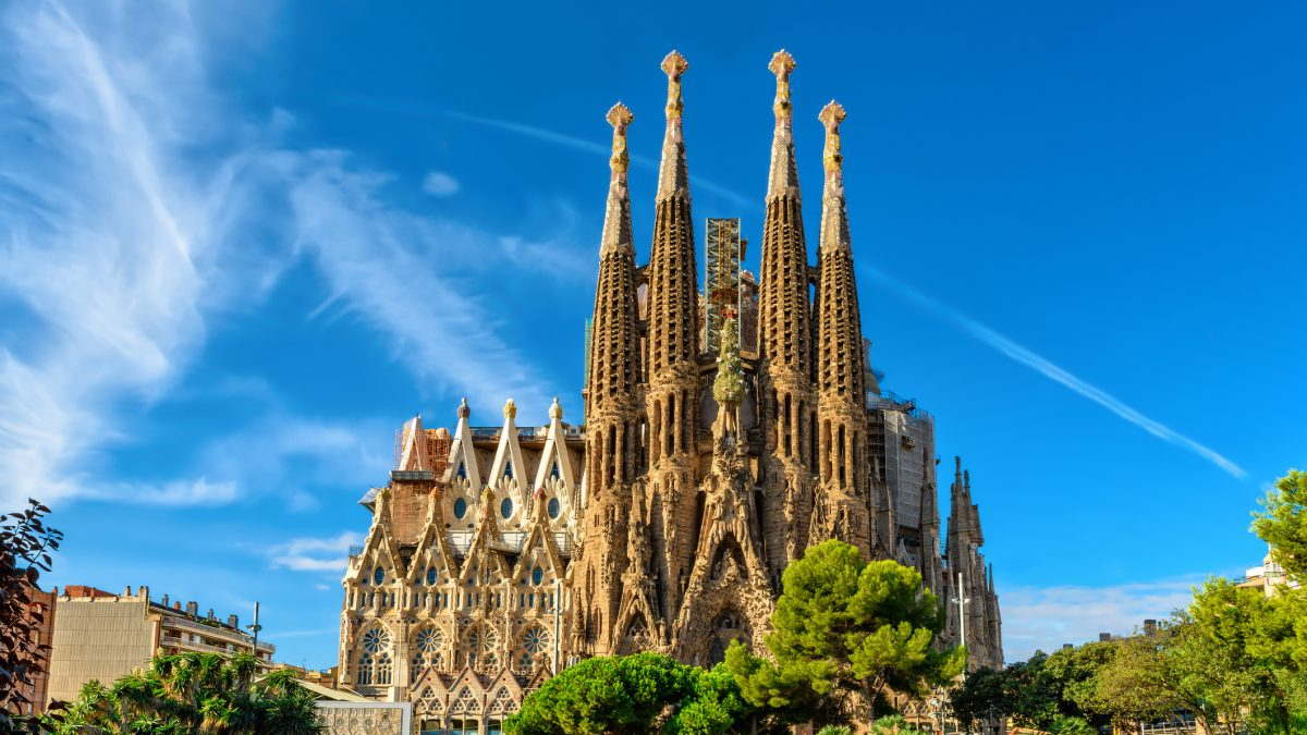 Sagrada Familia in Barcelona, spanje