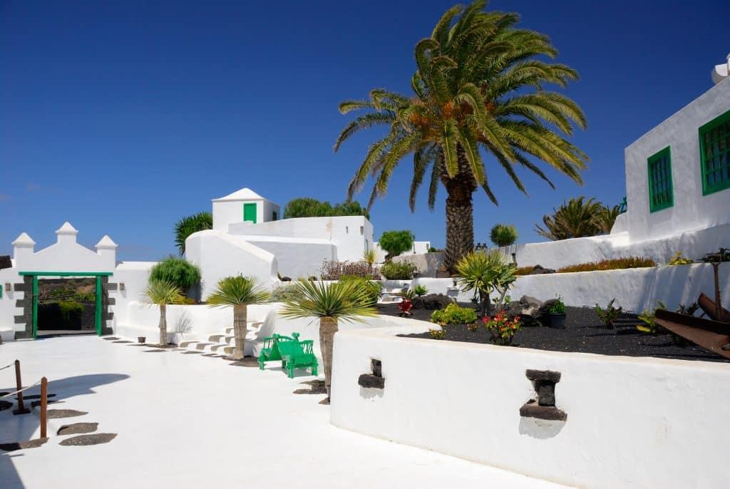 Traditioneel wit huis op Lanzarote