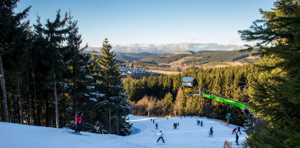 Skipiste in Winterberg, Duitsland