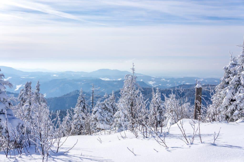 Winter in het Sauerland, Duitsland