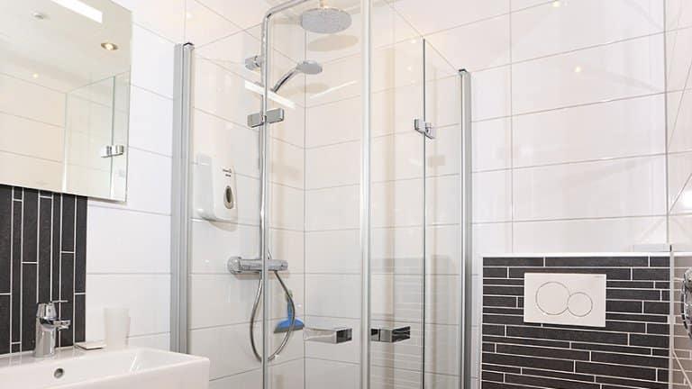 Badkamer van Hotel Kuik in Ruinen, Drenthe