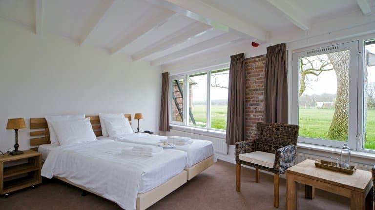 Hotelkamer van Buitenherberg ter Linde in Zuidwolde, Drenthe