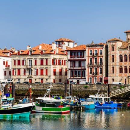 Haven van Saint-Jean-de-Luz in Frankrijk