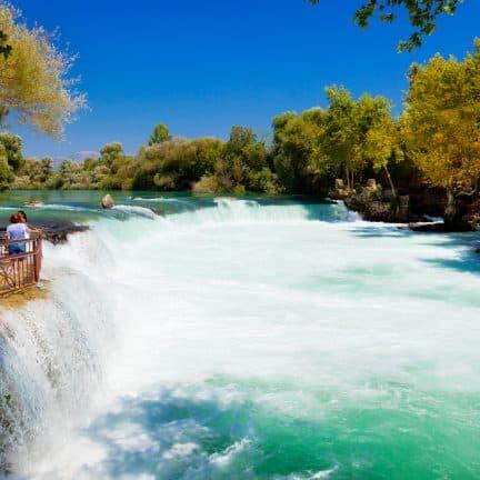 Waterval van Manavgat bij Side in Turkije