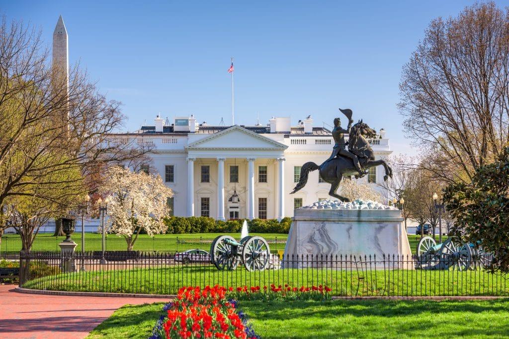 Het witte huis in Washington D.C., Verenigde Staten