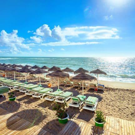 Strand van Benalmadena bij Malaga in Spanje
