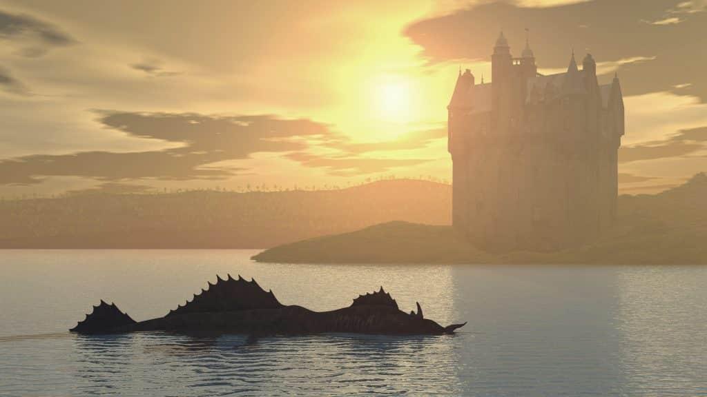 Monster van Loch Ness en kasteel