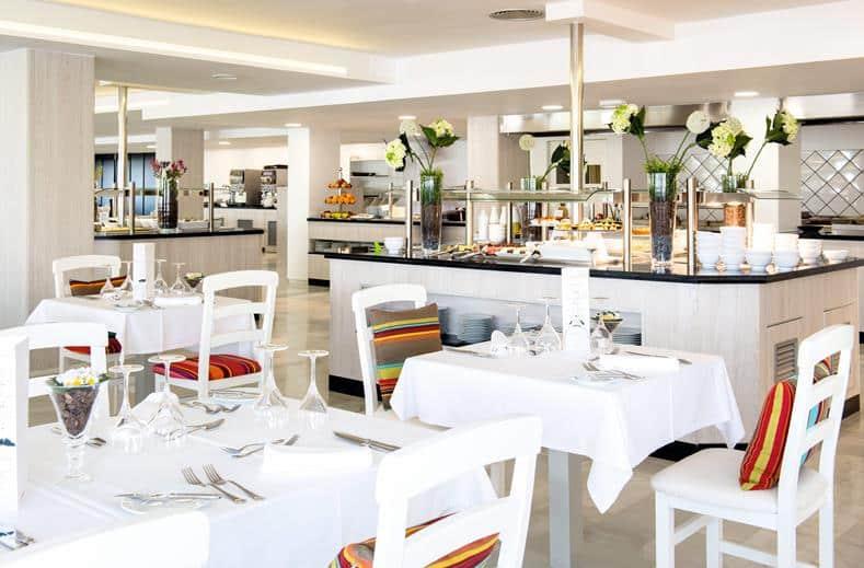 Restaurant van Club Bahamas in Playa d'en Bossa, Ibiza