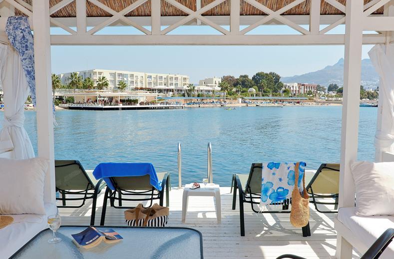 Zee bij La Blanche Resort en Spa in Turgutreis, Turkije