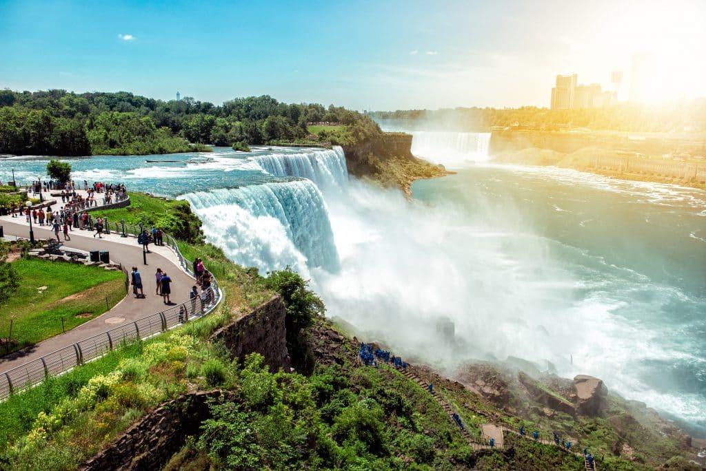 Uitzicht op Niagara Falls in Canada