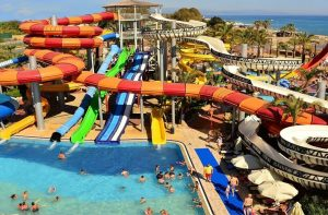 Waterpark van Long Beach Resort en Spa in Alanya, Turkije