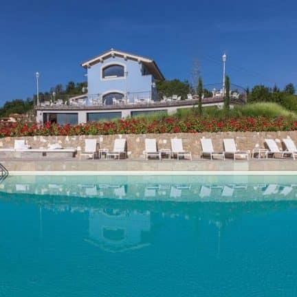 Zwembad van Villa Casagrande in Figline Valdarno, Italië