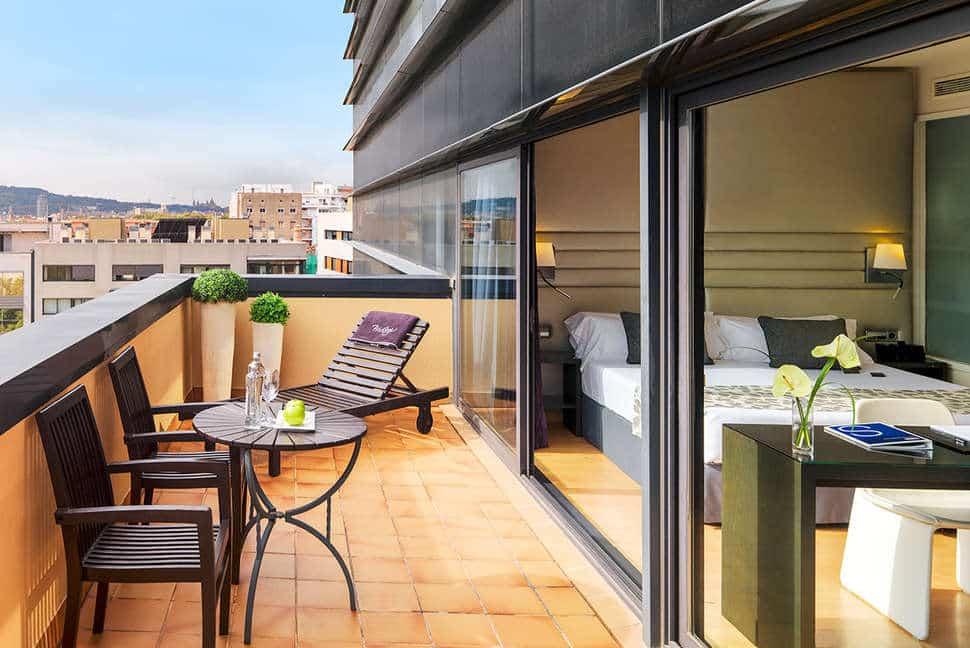 Hotelkamer van H10 Marina Barcelona in Barcelona, Spanje